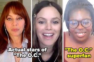 Melinda Clarke, Rachel Bilson and BuzzFeed's superfan, Ehis Osifo
