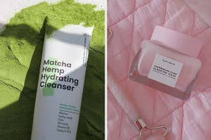two skincare products