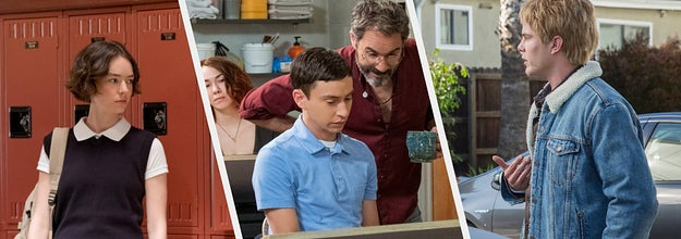 Three split photos from Atypical