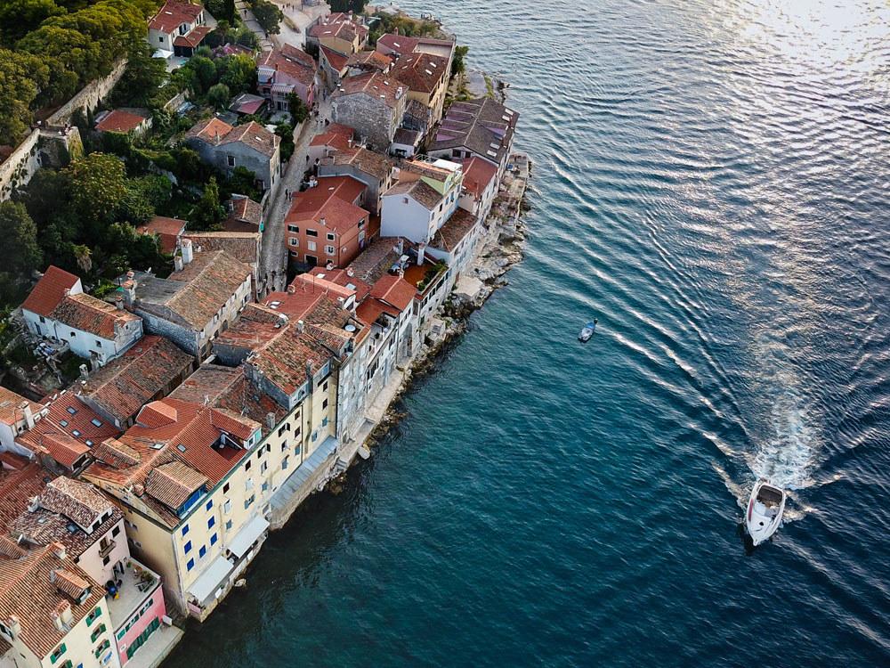 Rovinj, a town on the Istrian peninsula in Croatia.