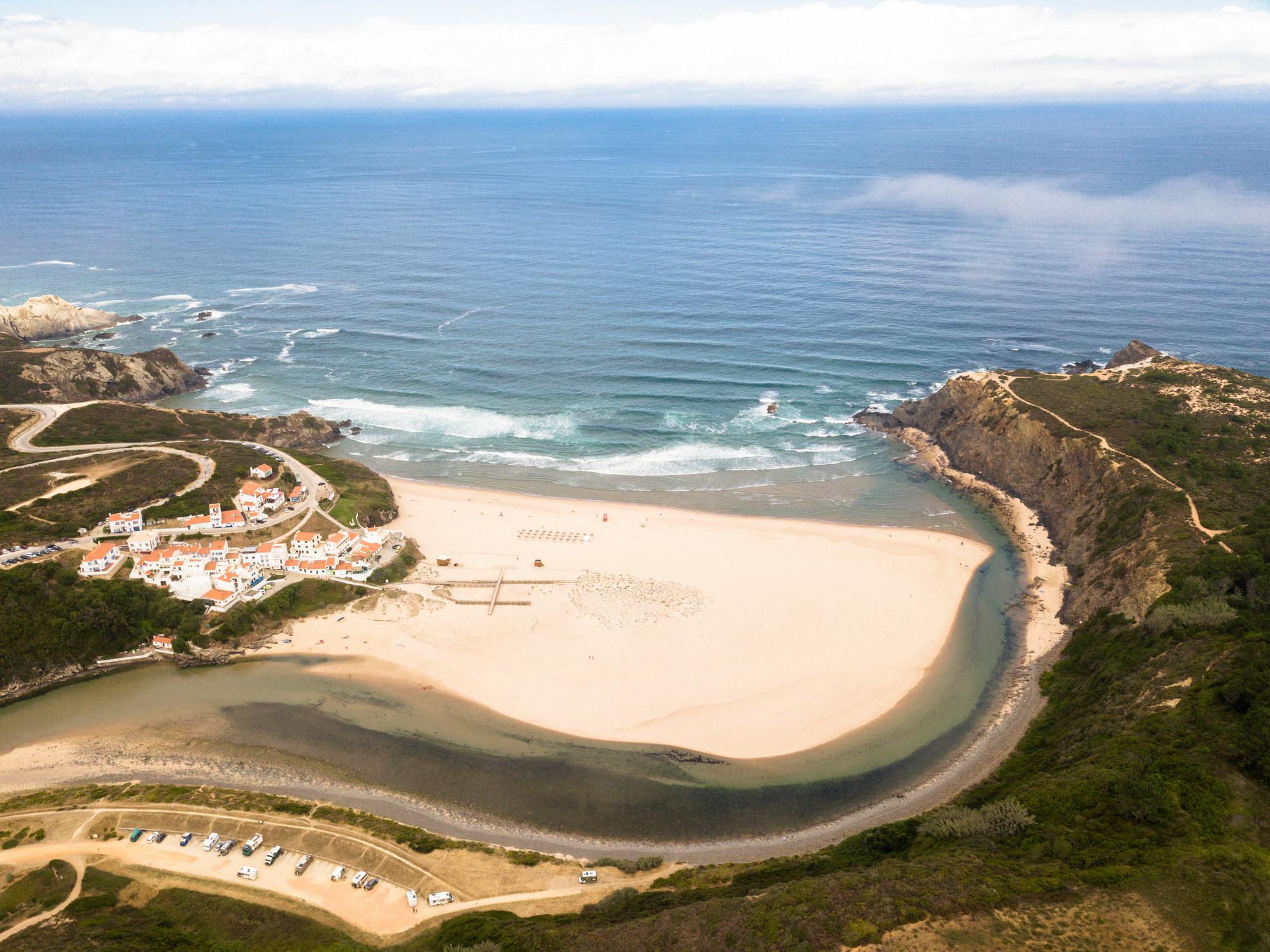 Praia de Odeceixe in Aljezur, Portugal.