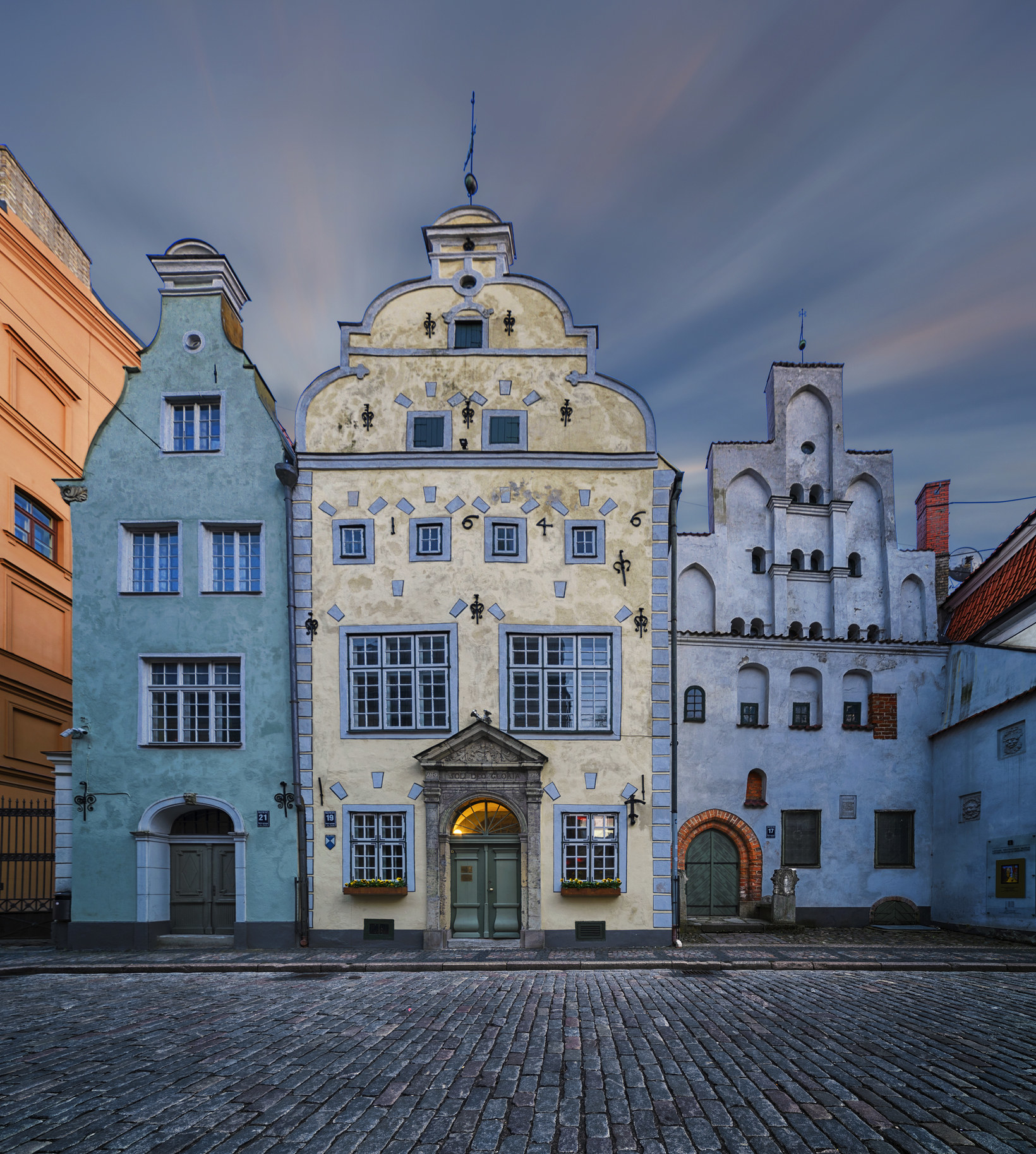 The Residence of the three brothers in Riga, Latvia.