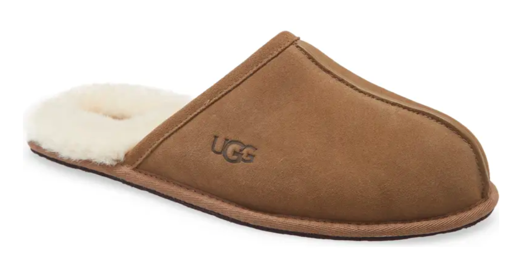 The slipper in Otter Suede