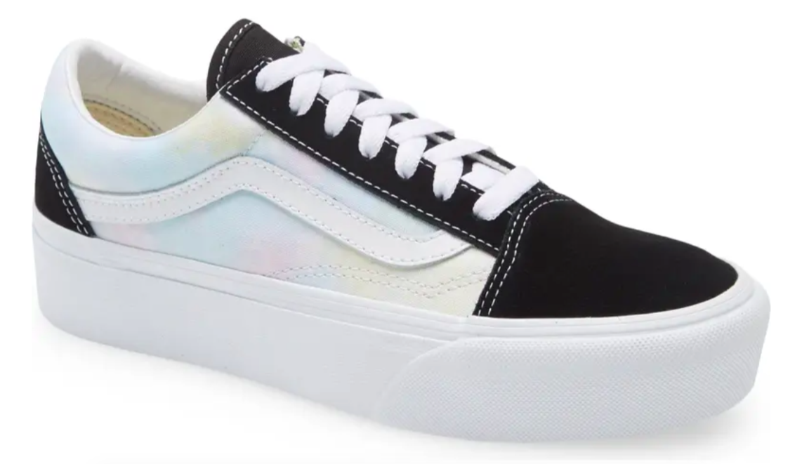 The sneaker in the black and cotton candy
