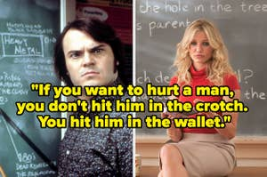 School of Rock side by side with Bad Teacher with text reading,
