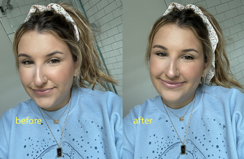 before and after using glossier ultralip