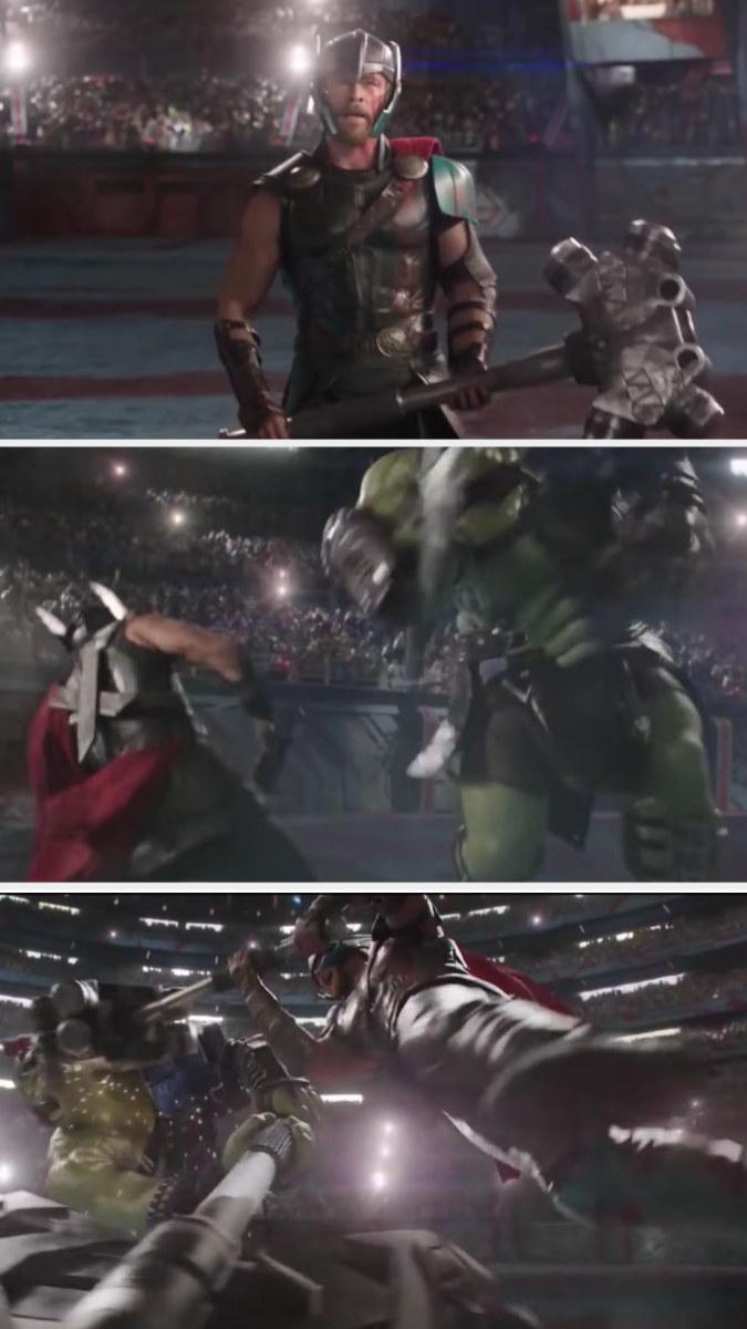 Thor fights Hulk