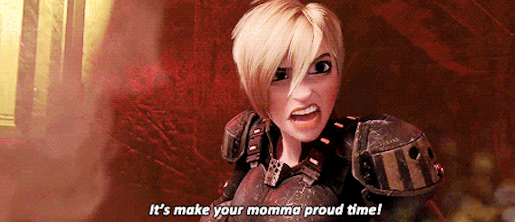 """she says """"it's make your momma proud time"""""""