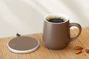The mug and warmer set in black walnut