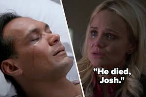 Annabeth telling Josh Leo is dead on The West Wing and Bobby dying on NYPD Blue