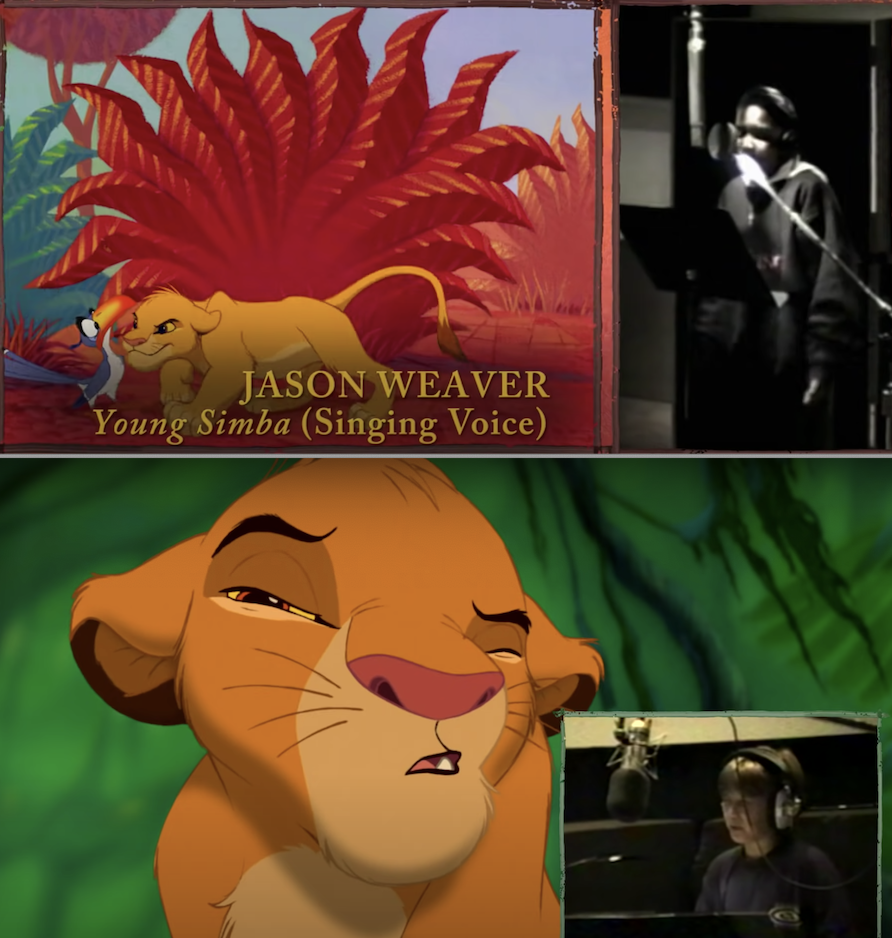 """JTT and Jason Weaver in the recording booth for """"The Lion King"""""""