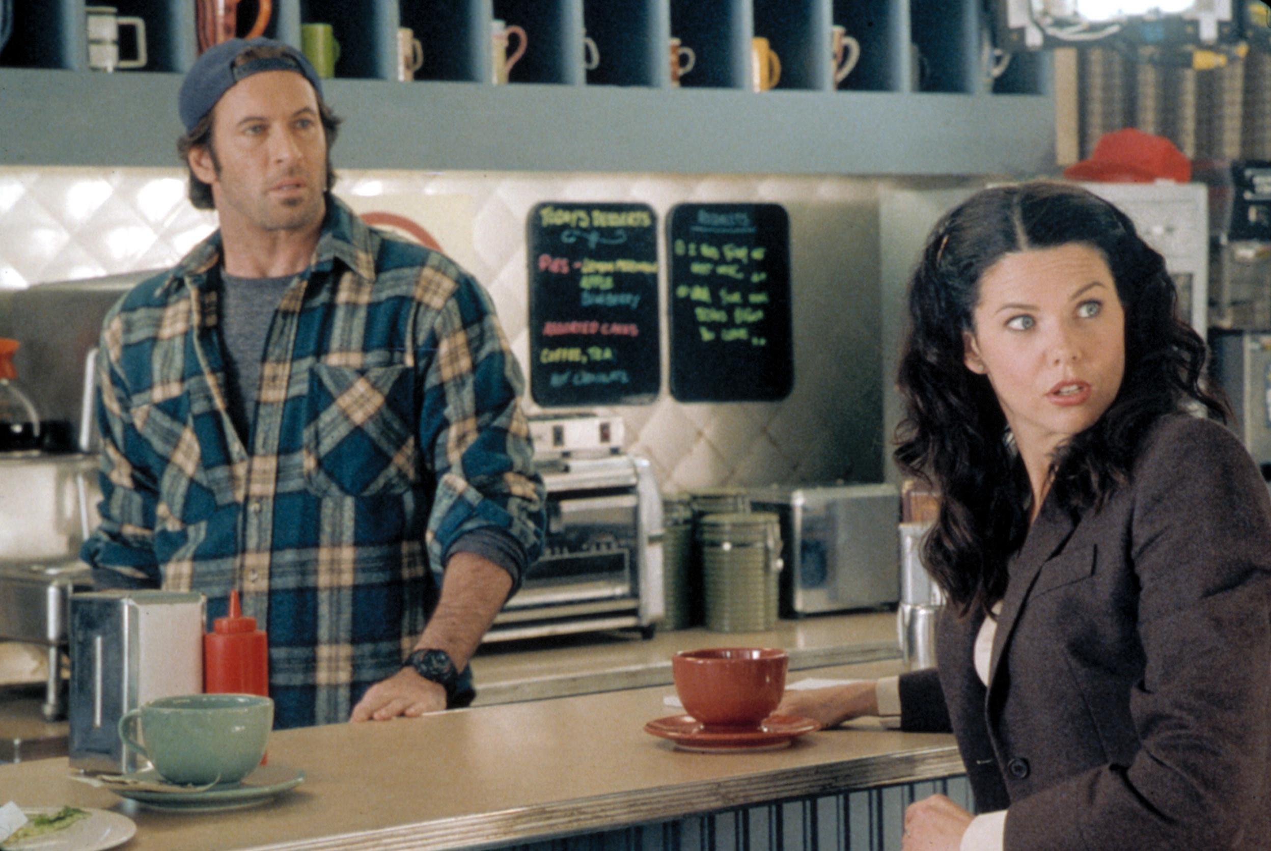 """Luke and Lorelai on """"Gilmore Girls"""""""