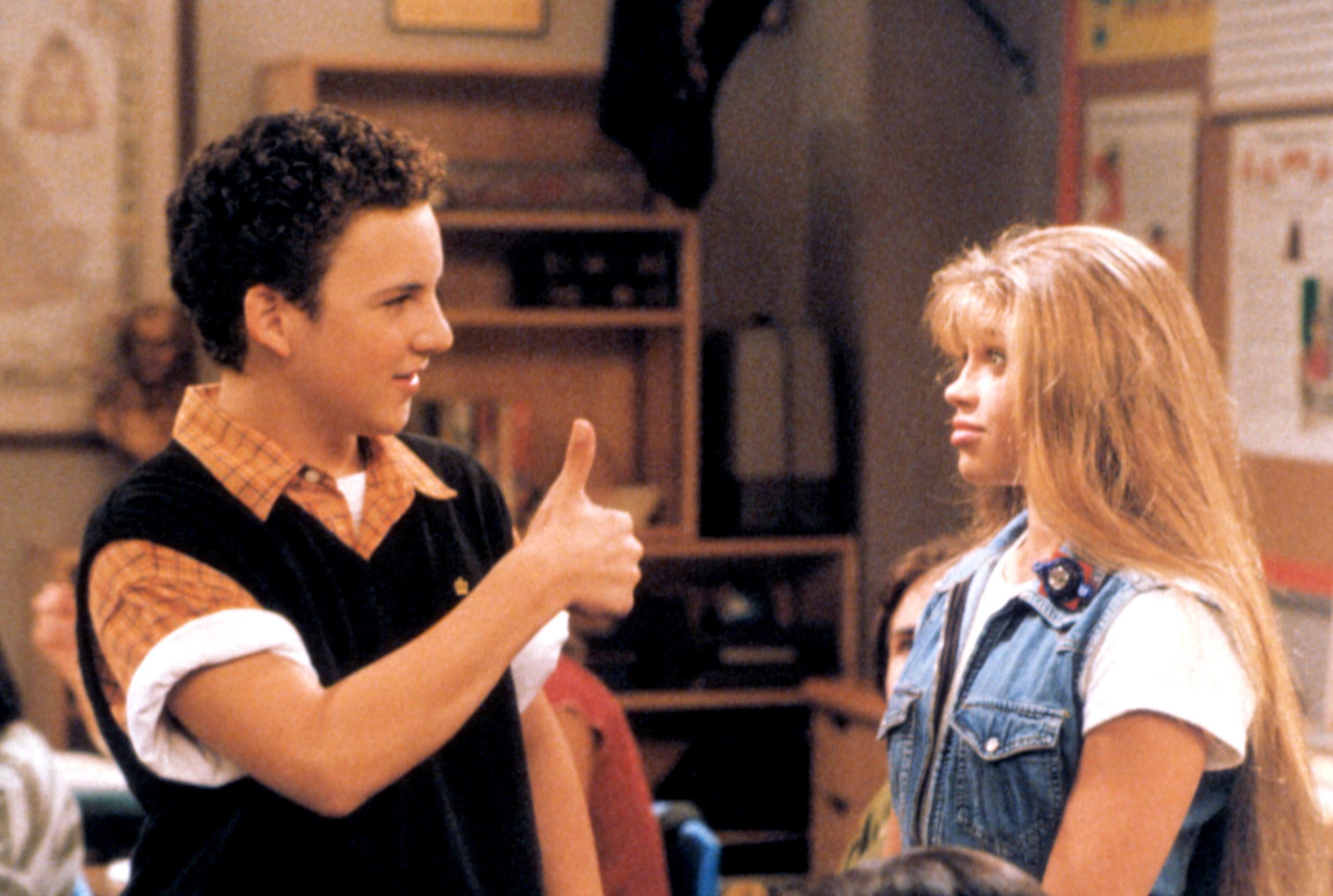 Cory giving Topanga a thumbs up