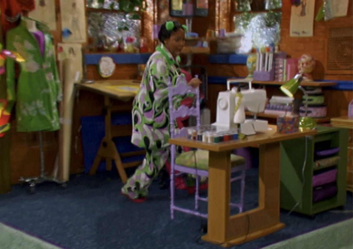 the little sewing studio in Raven's room
