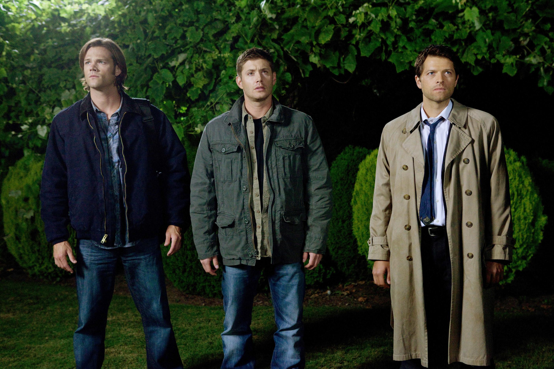 """Sam, Dean, and Castiel on """"Supernatural"""""""