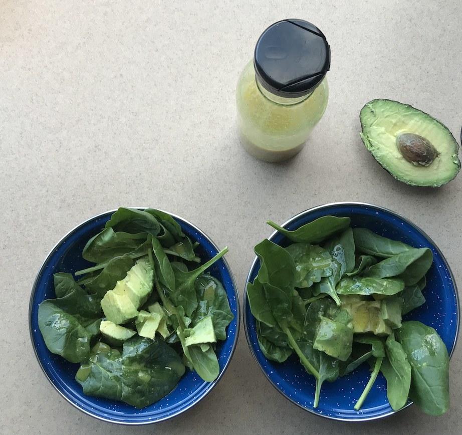 Easy salad with avocado