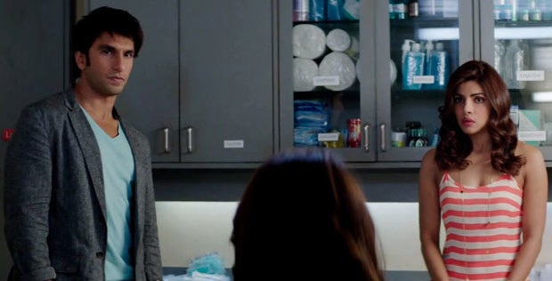 Ayesha and kabir stare at their parents in a scene from dil dhadakne do