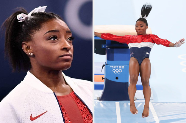 """Simone Biles Liked Tweets That Revealed Just How Dangerous Her Vault Was And How She Could've """"Literally Died"""" If She Hadn't Withdrawn From The Olympic Final"""