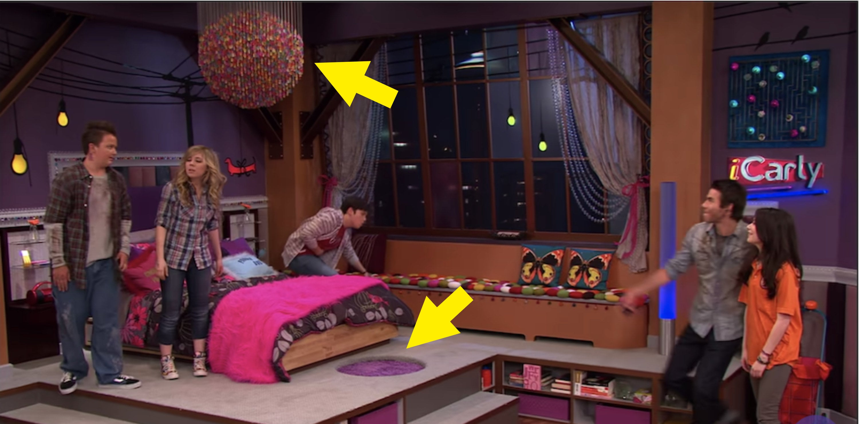 Carly's extravagant redecorated bedroom