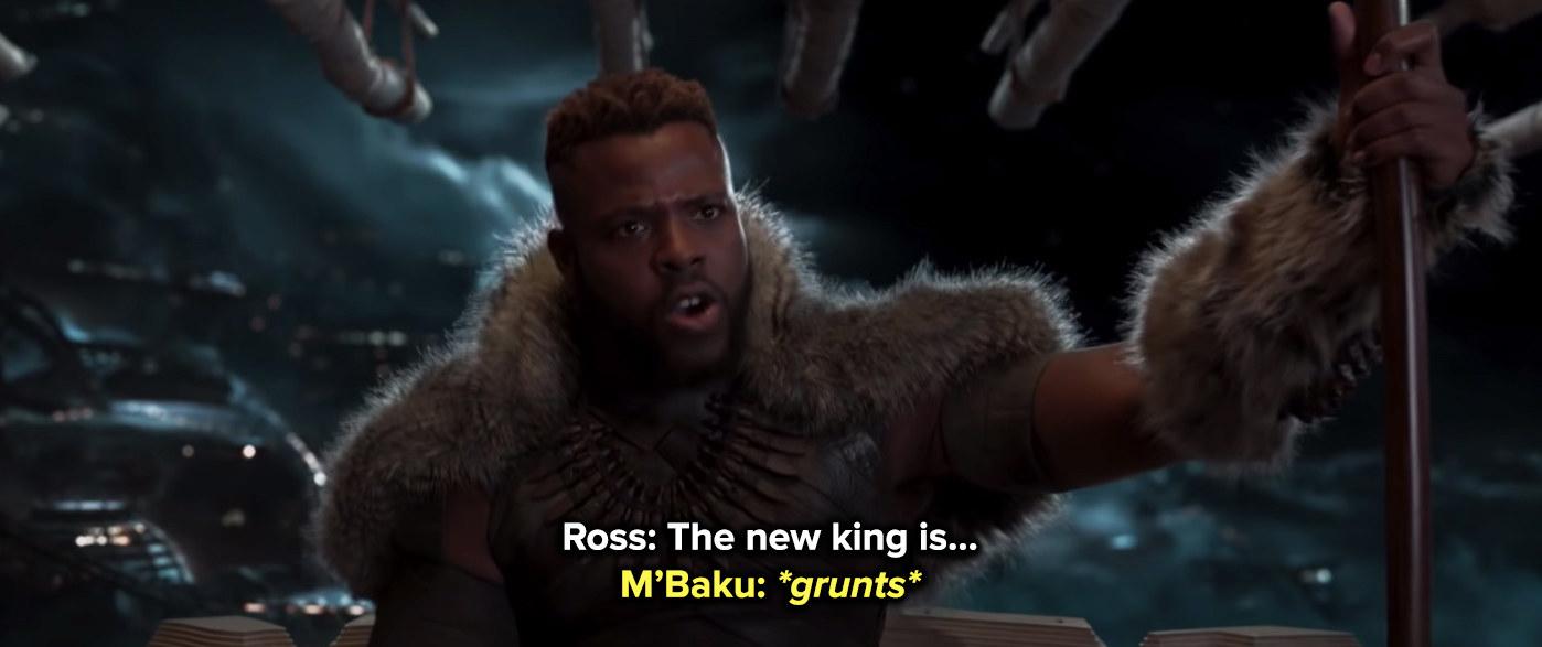 M'Baku grunts to cut Ross off