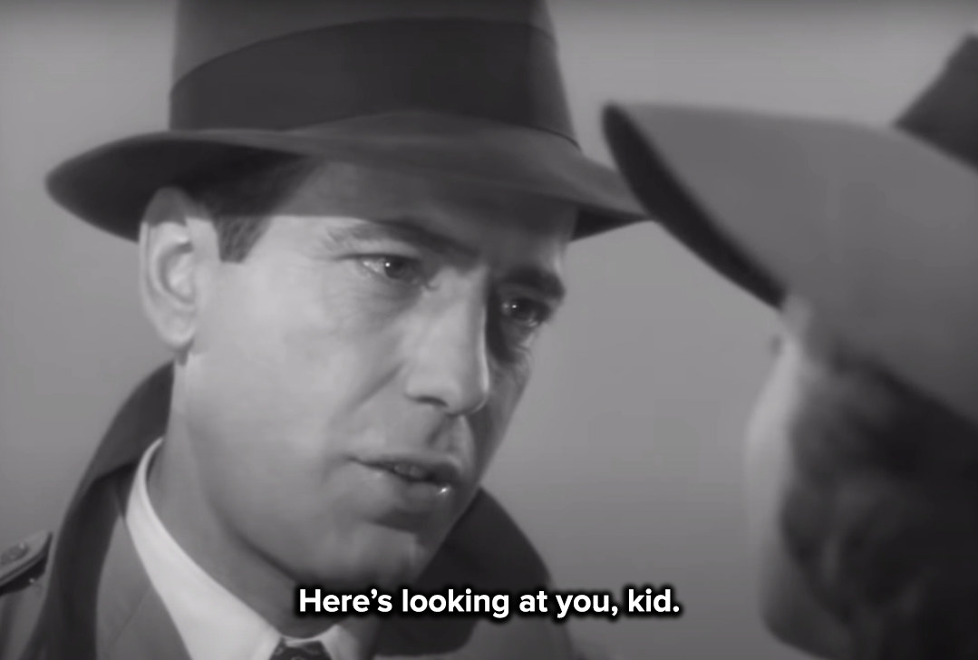 Rick urges Ilsa to get on the plane and leave with her husband