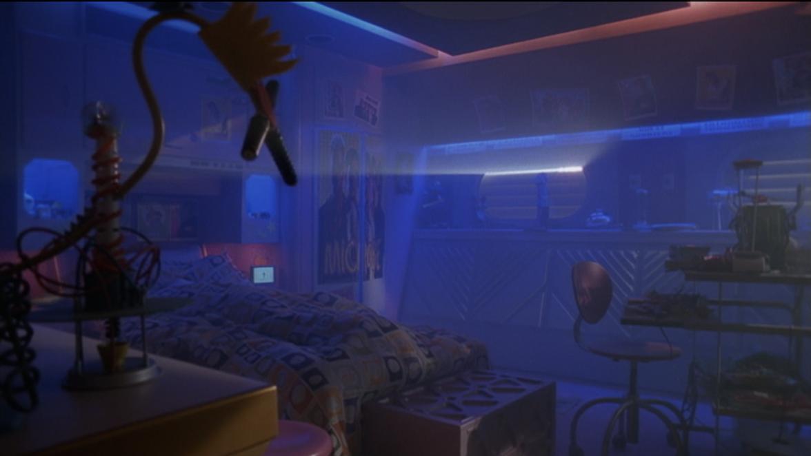 the light peeking through to Zenon's room