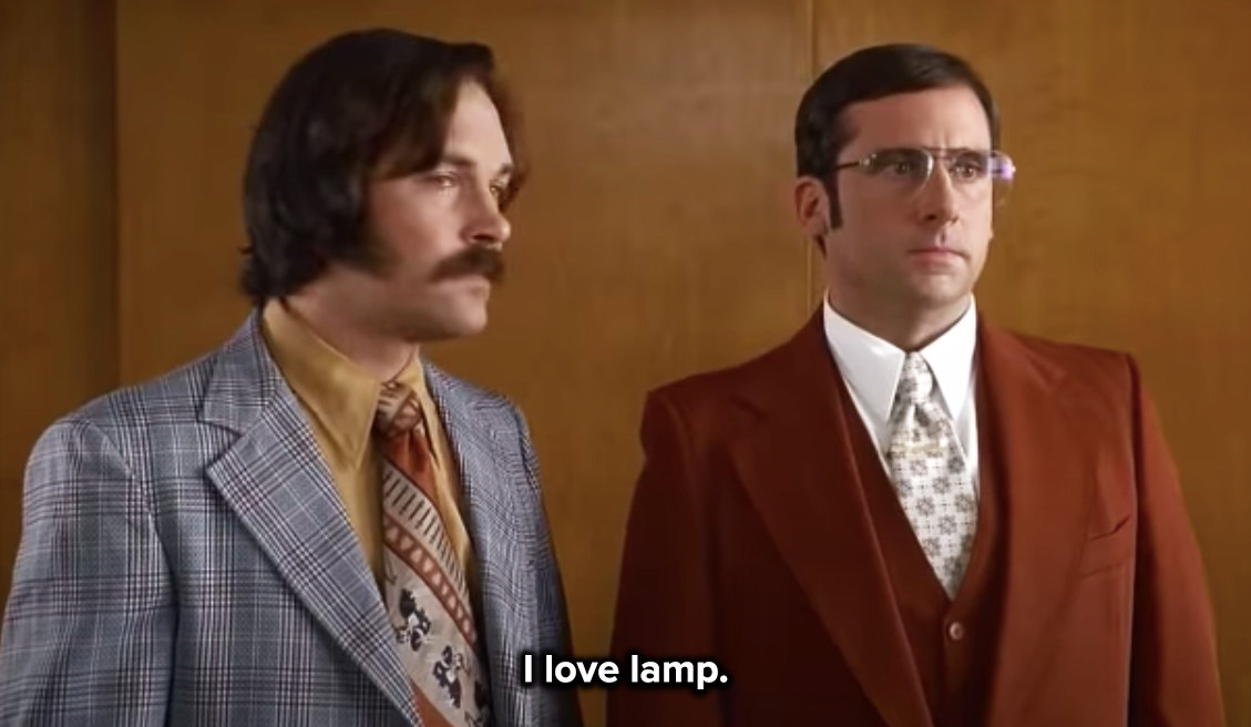 Brick says he loves the carpet, the desk, and the lamp