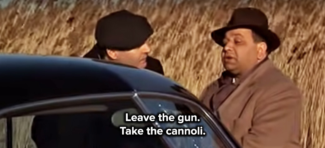 Clemenza gives direction at the murder scene