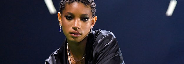 Willow Smith poses onstage