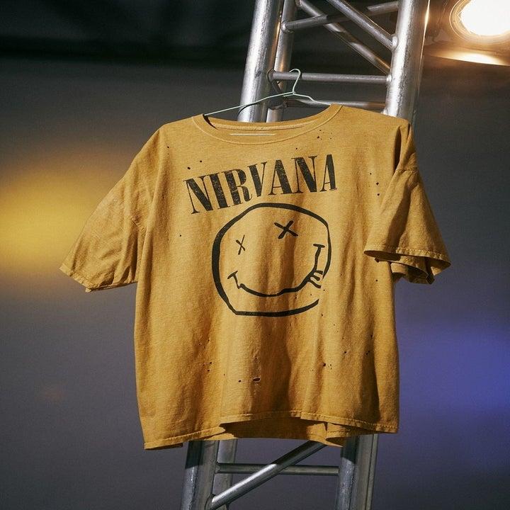 yellow nirvana band tee