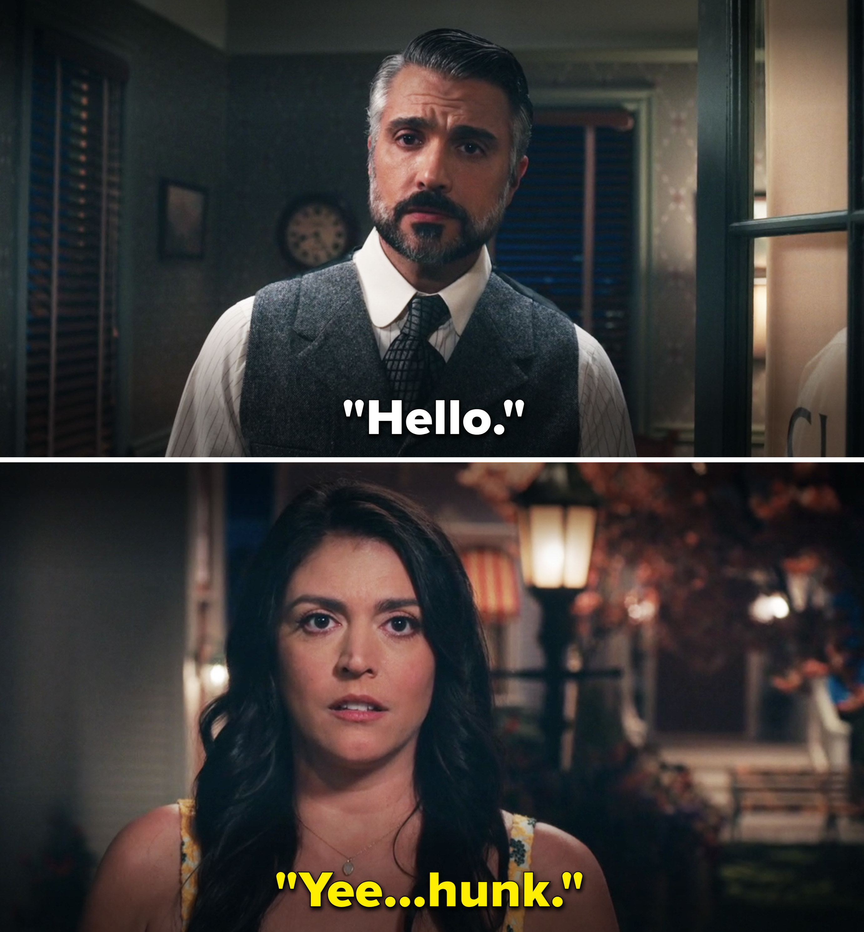 """Melissa saying, """"Yee-hunk"""" after seeing the doctor"""