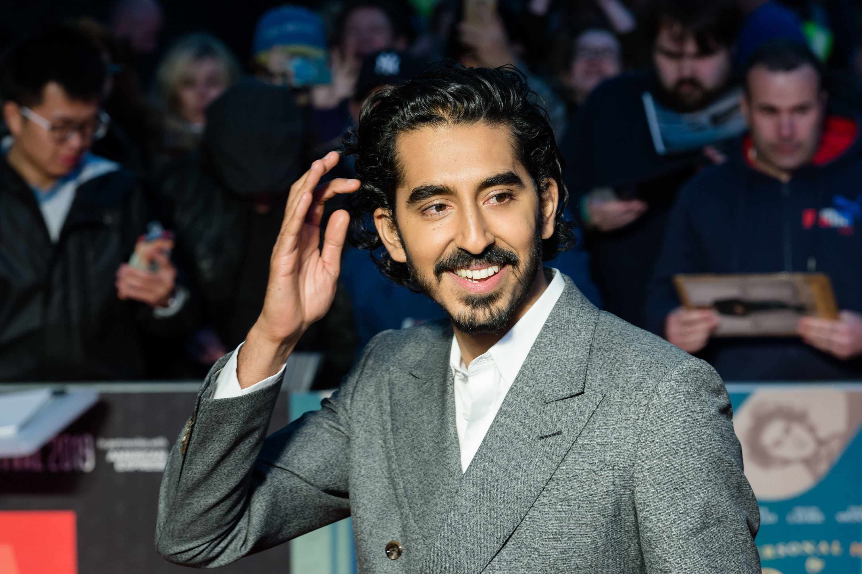 Dev Patel is photographed at a film premiere