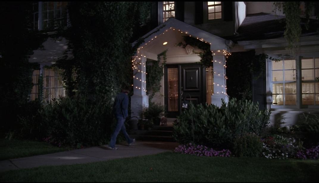 Fairy lights on Gabriella's front door
