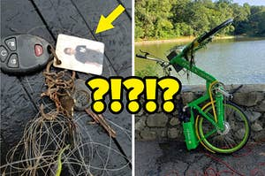 Car keys and a Lime scooter pulled from a river