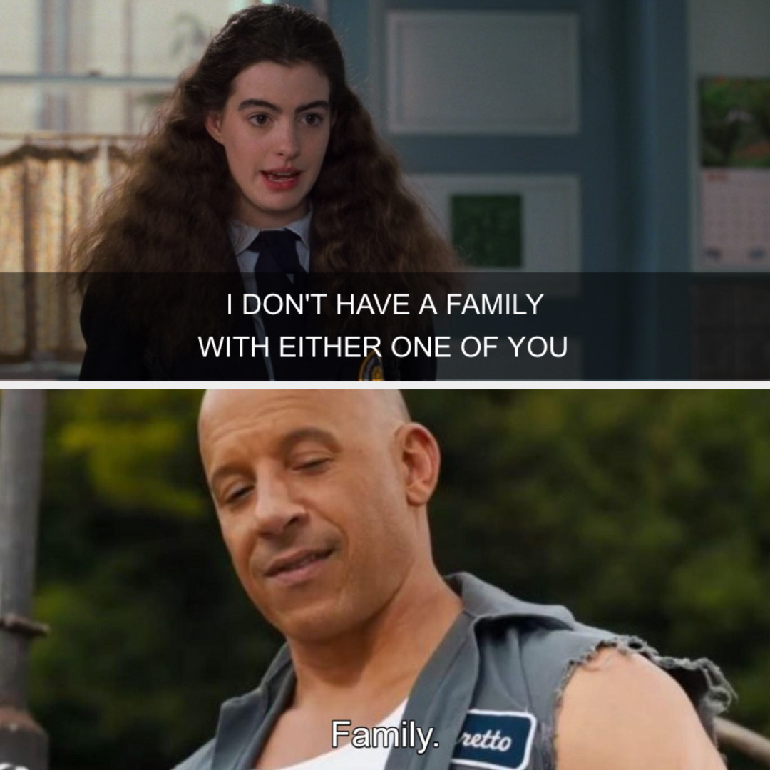 A screenshot of Mia and Dom from Fast and the Furious