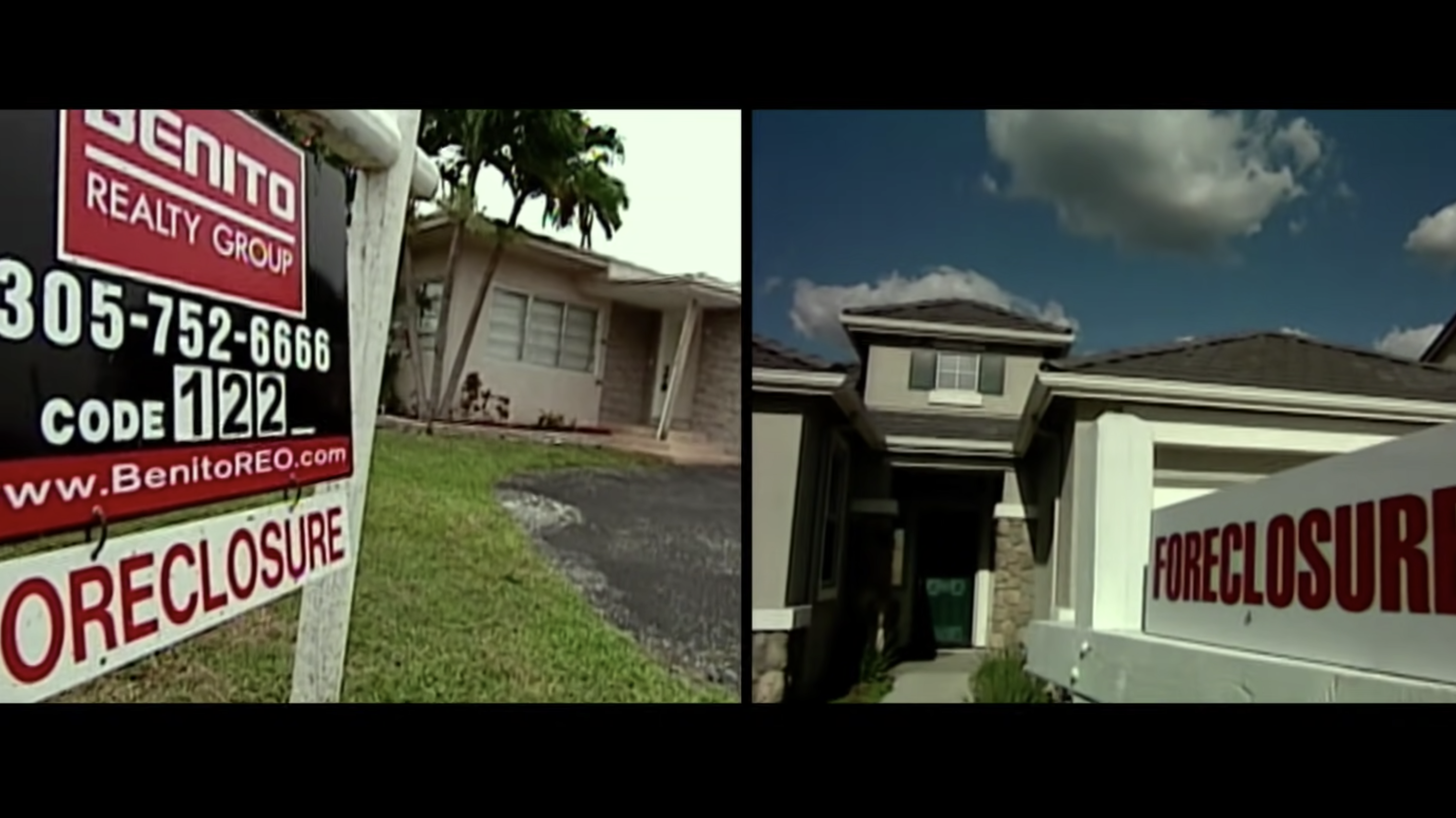 Foreclosed homes in 2008