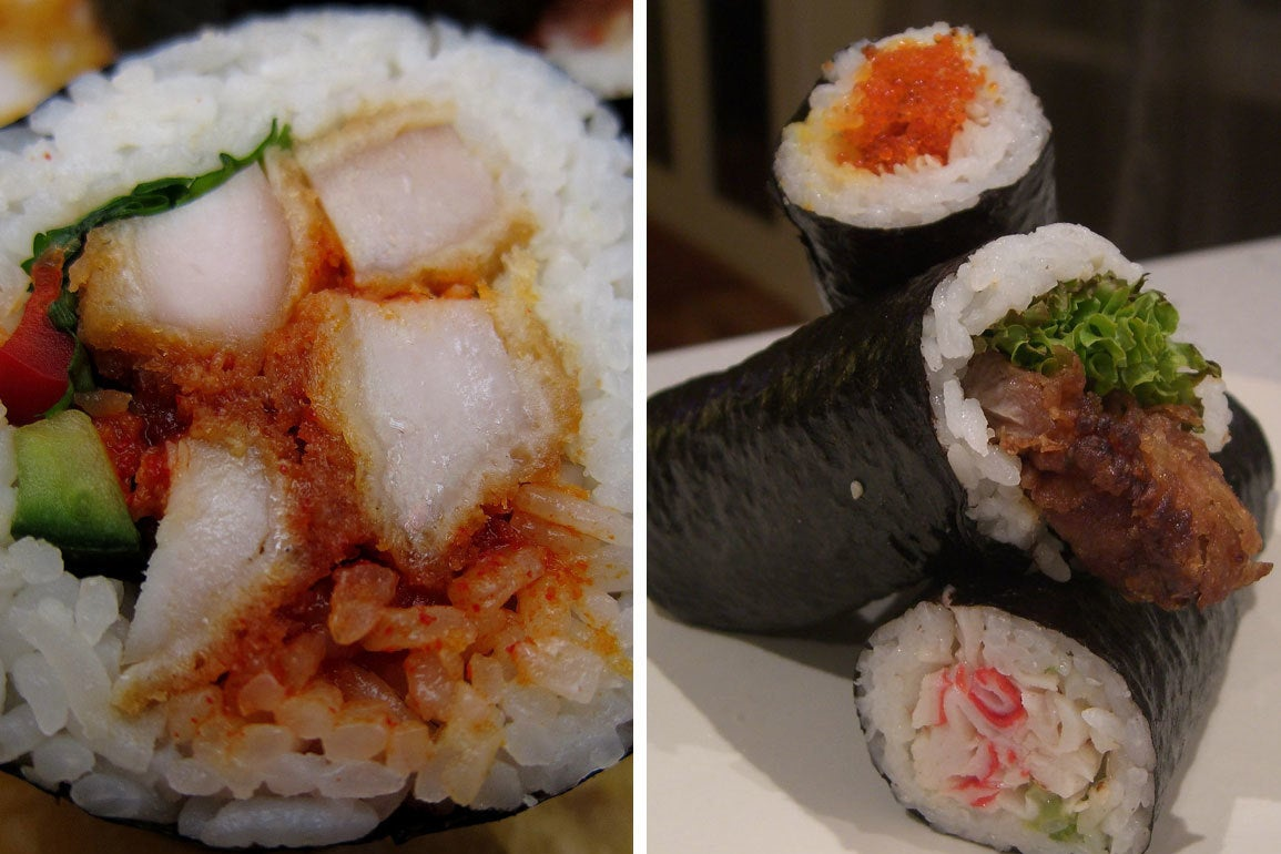 Australians Are Obsessed With Fried Chicken Sushi, Even Though It's Apparently Sacrilegious