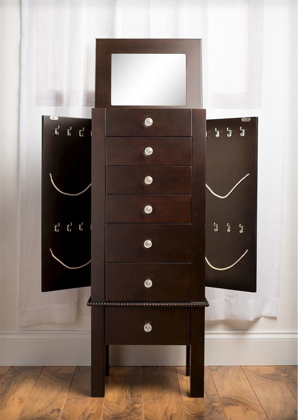 a jewelry armoire