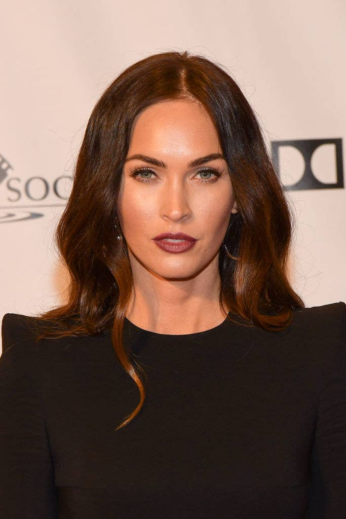 Megan Fox in a close-up, looking serious