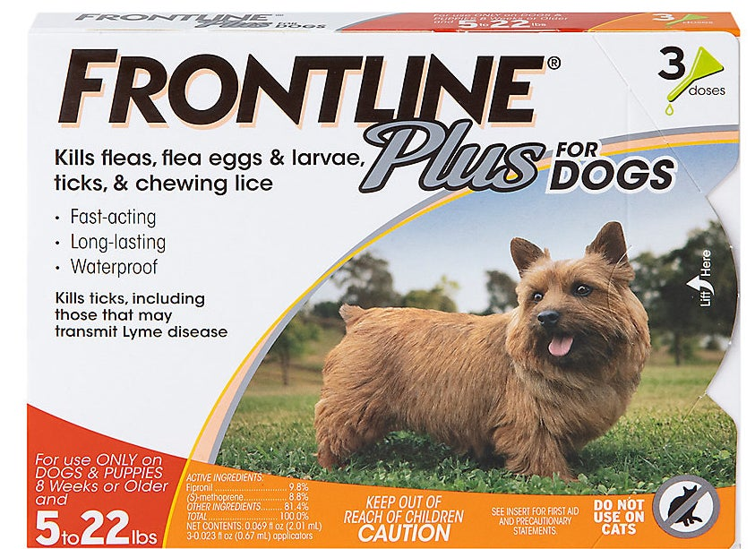 Theflea and tick treatment for smaller dogs