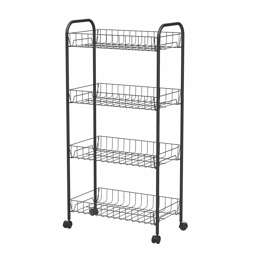 Black roll-out cart