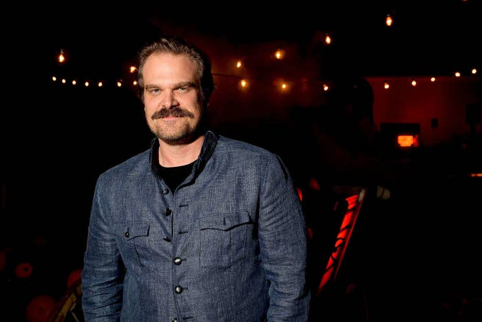 """David Harbour attends Netflix's """"Stranger Things"""" celebrates 12 Emmy nominations"""