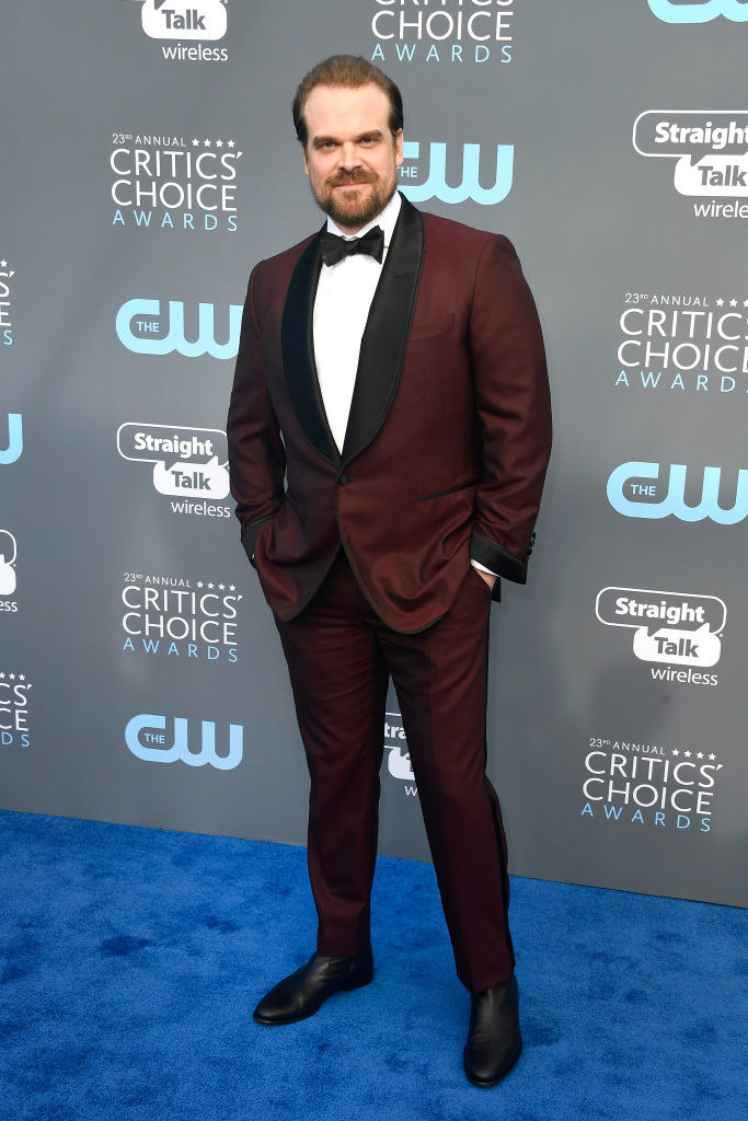 David Harbour attends The 23rd Annual Critics' Choice Awards