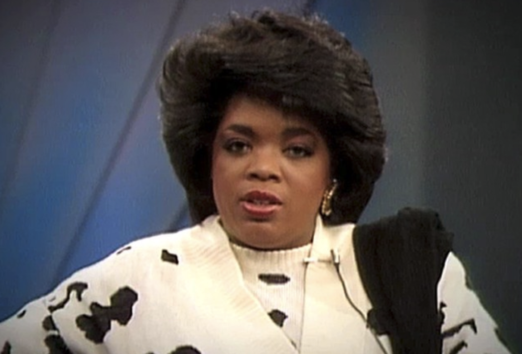 Oprah looking shocked