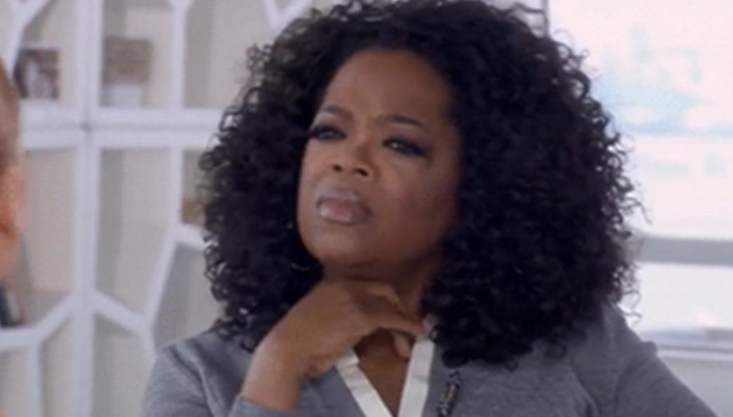 Oprah looking intrigued