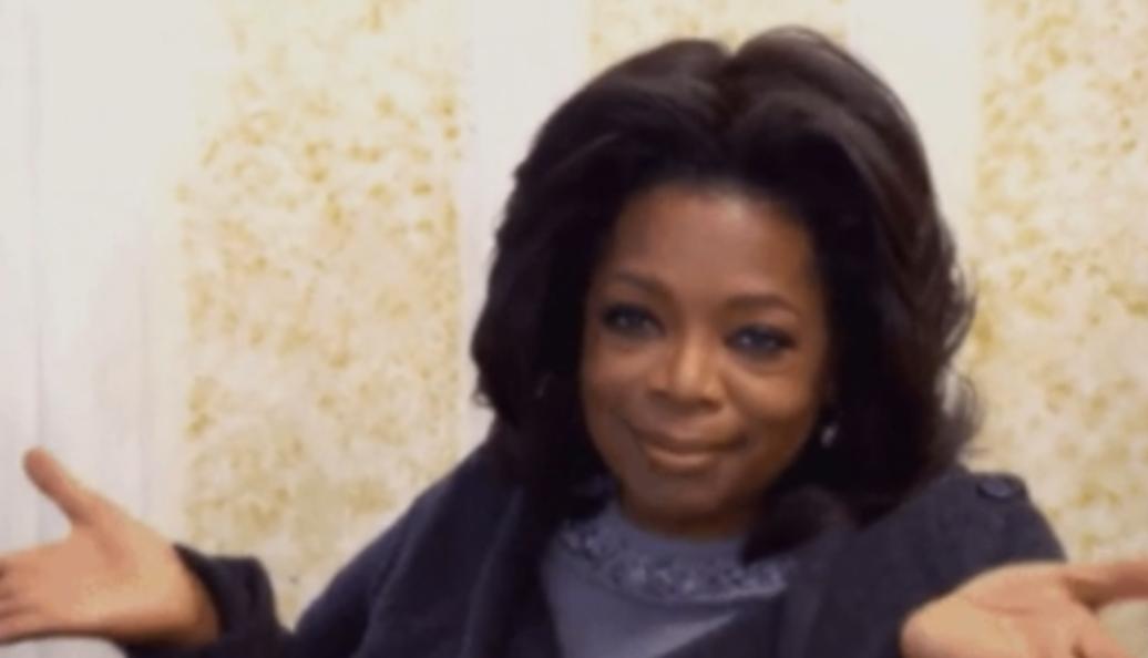 Oprah looking unsurprised