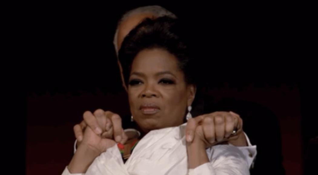 Oprah looking comforting