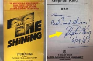 A signed copy of Stephen King's The Shining