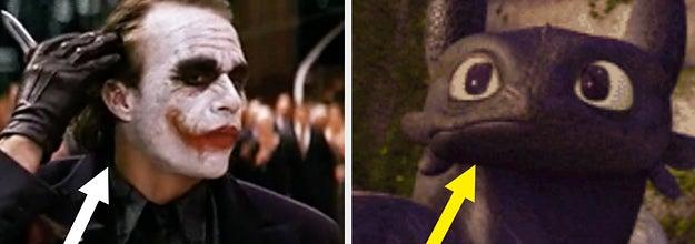 Heath Ledger as the joker labeled