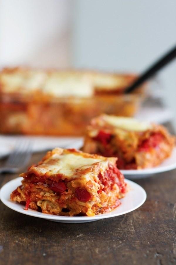 Whole Wheat Roasted Veggie Lasagna